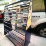 Gum- candy rack on wheels