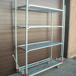 Indoor/Outdoor metal shelving