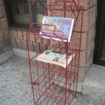Newspaper shelving