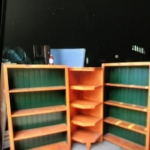 Shelving units from real solid wood