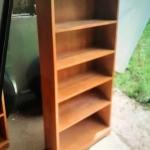 Wooden book shelving unit