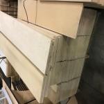 Wooden shelves approx. 1'X4 & 5'