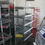 Freestanding metal multi purpose shelving unit