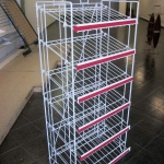 Multipurpose slanted shelving unit