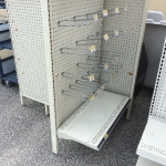 Four sided gondola shelving unit