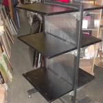 2 sided metal shelving unit