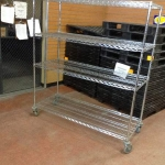 Metro wire shelving unit on wheels