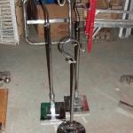 Single hook adjustable rack