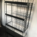 Multi purpose shelving unit colapssible 2