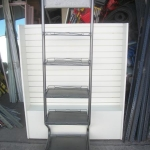 Display metal shelving