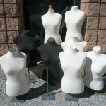 assorted dress forms