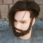 Male mannequin head with human hair