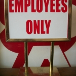policy sign with 5''X7'' sign holder