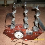 clock-light-ship-vintage