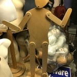 Kid wooden manequin with moving parts
