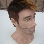 Men's mannequin head
