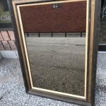 Framed mirror (bronzed)
