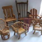 Miniature chairs collection