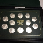 Silver coin collection  of Norman Rockwll's work