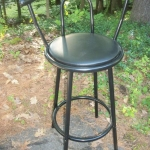 High stool with back  suport
