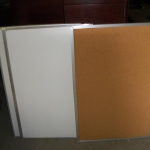 White and cork boards