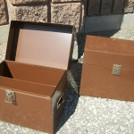 Metal storage boxes