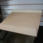 Slanted wooden/acrylic shelve for slatwall use