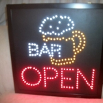 LED OPEN - BAR / BEER SIGN