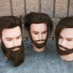 male heads with human hair
