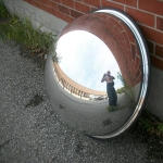 security mirror - half globe