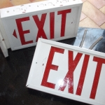 Exit sign box