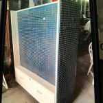 Metall 4 sided pegboard unit on wheels