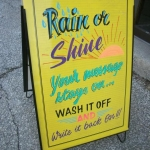 SIDEWALK SIGN- washable)