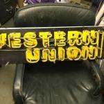 Western Union neon sign -
