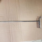 Chrome plated hook 12'' to fit on to Slatwall