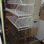 Stackable 4' wire baskets