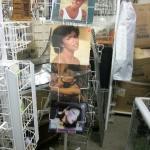 LP's, calenders spinner rack