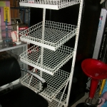 Display slanted basket unit