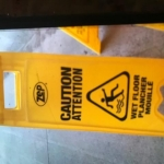 Floor washing attention sign