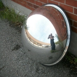 Security half globe mirror