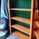 Wooden shelving - real