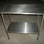 Stainless steel 2 level table